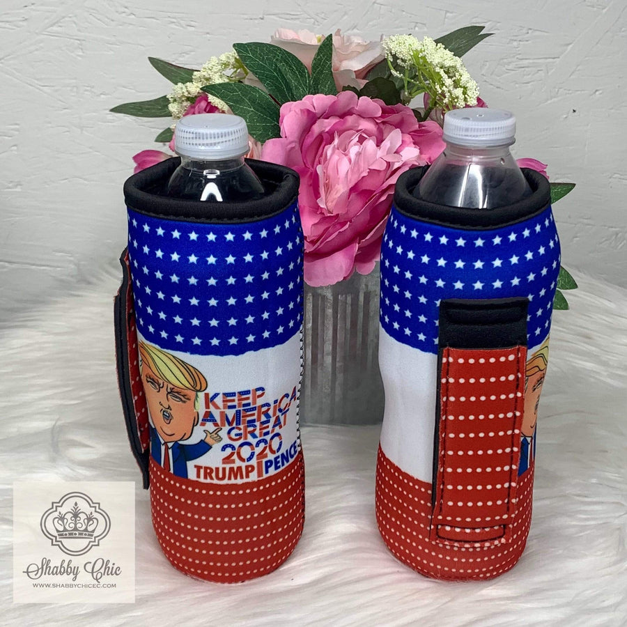 Keep America Great Water Bottle Koozie Shabby Chic Boutique and Tanning Salon