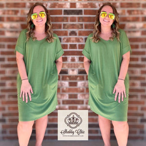 Kiwi Tee Dress Shabby Chic Boutique and Tanning Salon