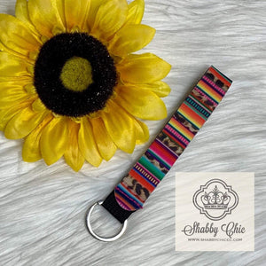 Leopard and Serape Neoprene Key Ring Shabby Chic Boutique and Tanning Salon