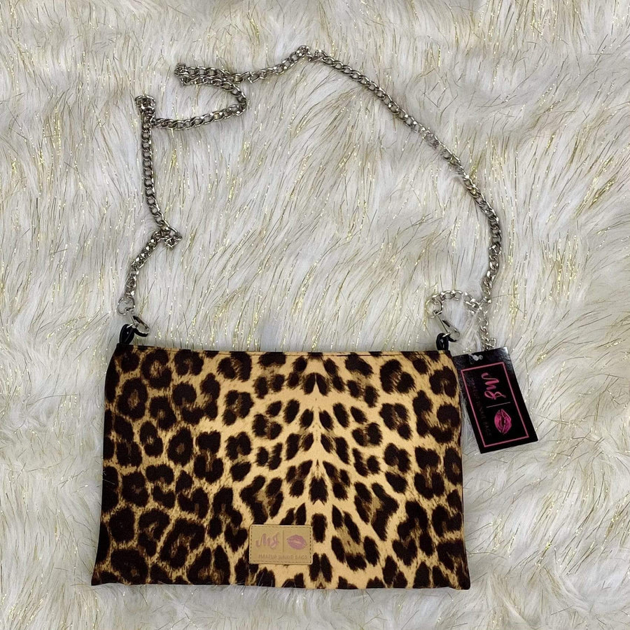 Leopard MakeUp Junkie Crossbody Bag Shabby Chic Boutique and Tanning Salon