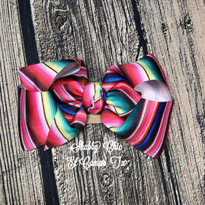 Little Girls Serape Hairbow - NO RHINESTONES Shabby Chic Boutique and Tanning Salon