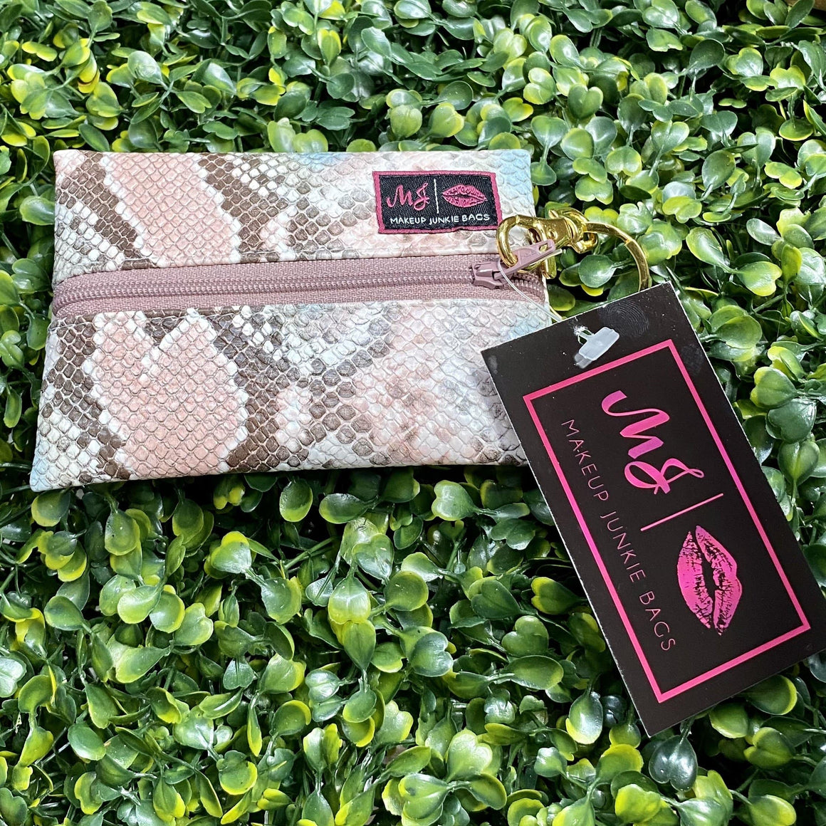 Make Up Junkie Bag - Micro - Multi Snakeskin Shabby Chic Boutique and Tanning Salon