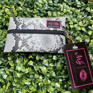 Make Up Junkie Bag - Micro - Snakeprint Shabby Chic Boutique and Tanning Salon