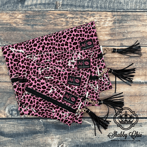 Make Up Junkie Bag - Pink Leopard Patent Shabby Chic Boutique and Tanning Salon