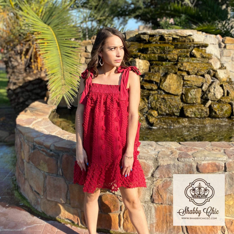 Maroon Ball Dress Shabby Chic Boutique and Tanning Salon