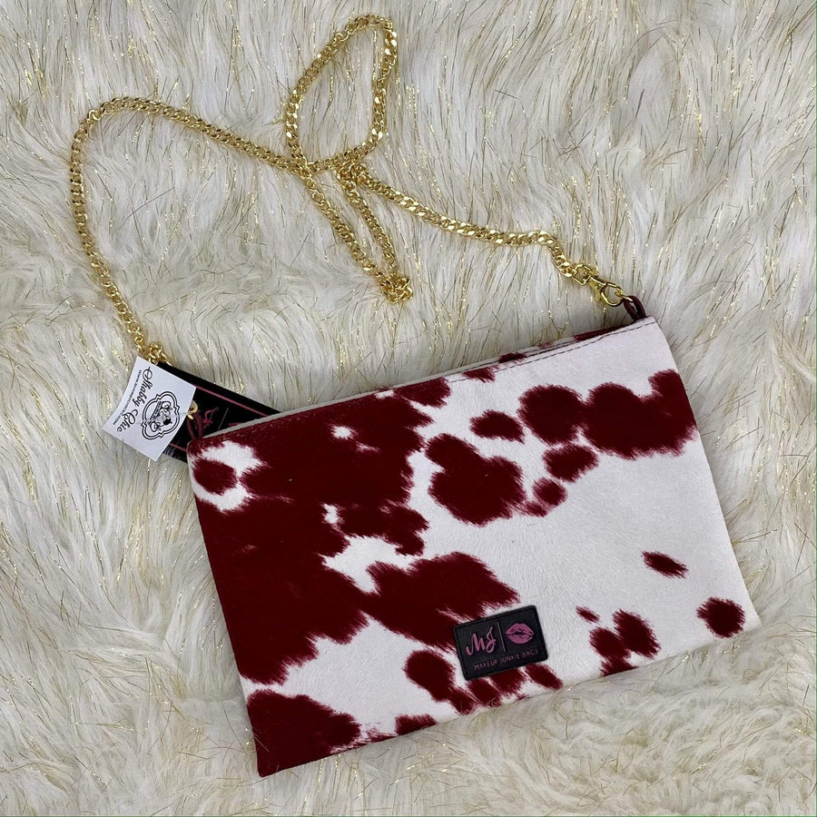 Maroon Out MakeUp Junkie Crossbody Bag Shabby Chic Boutique and Tanning Salon