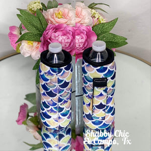 Mermaid Print Water Bottle Koozie Shabby Chic Boutique and Tanning Salon