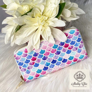 Mermaid Zip Wallet Shabby Chic Boutique and Tanning Salon