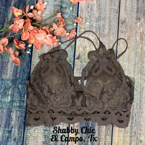 Mocha Bralette Shabby Chic Boutique and Tanning Salon