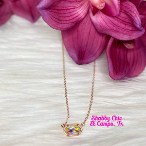 Mystical Rose Gold Necklace Shabby Chic Boutique and Tanning Salon