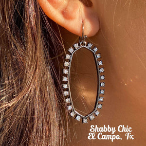 Open Door Gunmetal Earrings Shabby Chic Boutique and Tanning Salon