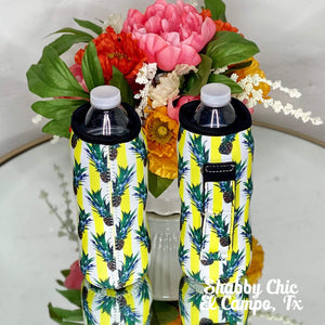 Pineapple Water Bottle Koozie Shabby Chic Boutique and Tanning Salon
