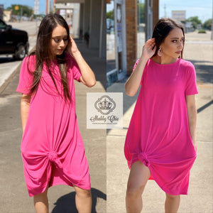 Plain Jane Dress - Hot Pink Shabby Chic Boutique and Tanning Salon