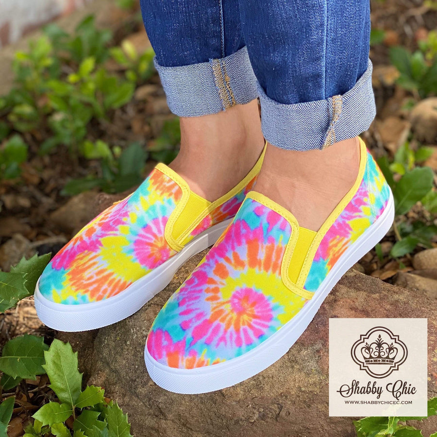 Power Tie Dye Slip on Shoes - SALE Shabby Chic Boutique and Tanning Salon