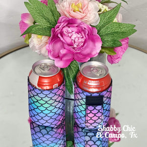 Purple Mermaid Koozie 12 oz Can Shabby Chic Boutique and Tanning Salon