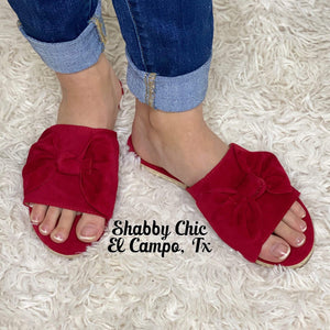 Red Bow Sandals Shabby Chic Boutique and Tanning Salon