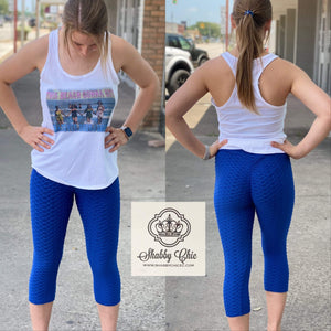 ROYAL BLUE - High Waist Scrunch Butt Lifting Bottom Shabby Chic Boutique and Tanning Salon