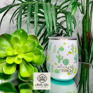 SCOUT+Swig Cactus Makes Perfect Stemless Wine Cup (14oz) Shabby Chic Boutique and Tanning Salon