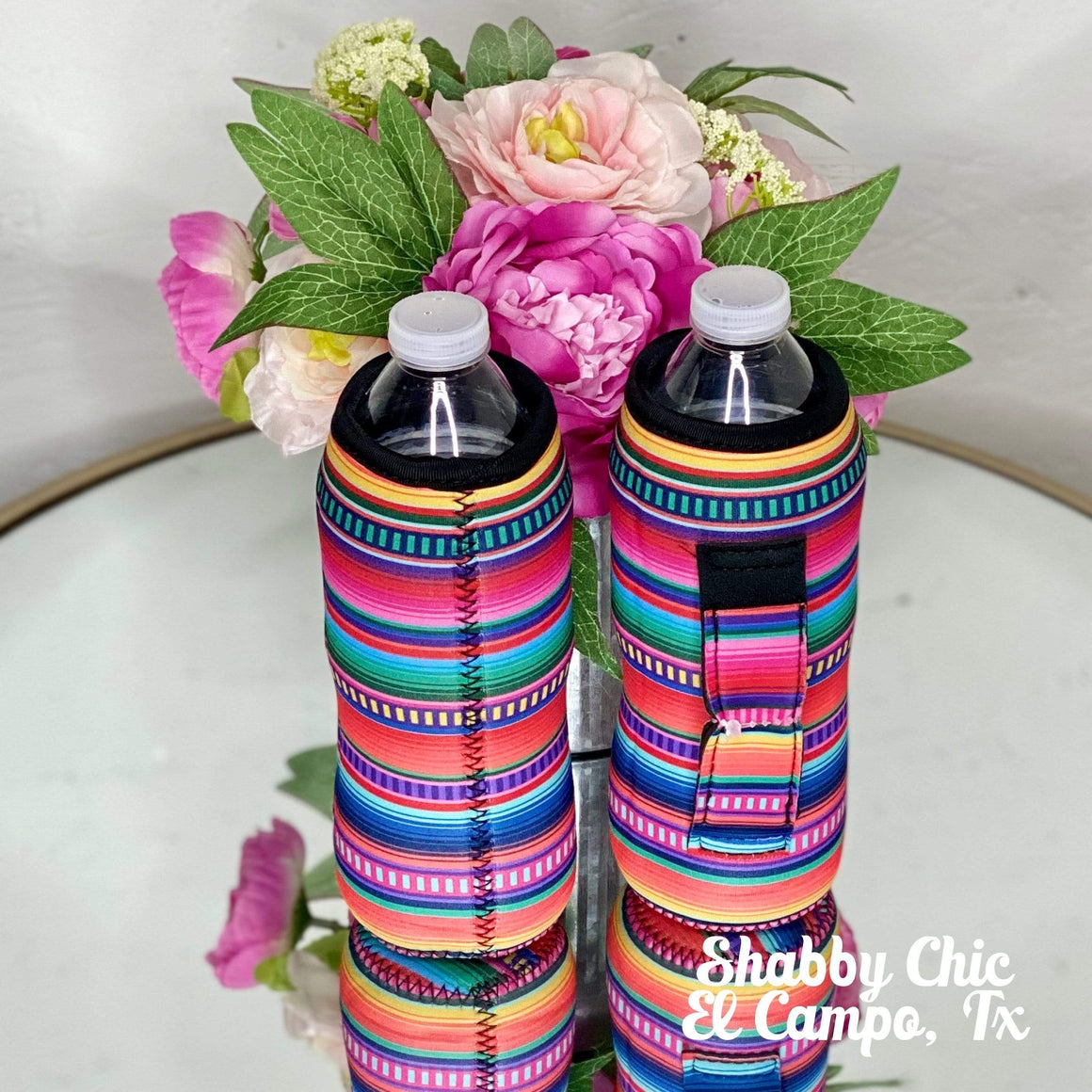 Serape Water Bottle Koozie Shabby Chic Boutique and Tanning Salon
