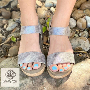 Slidell Taupe Snake Wedges Shabby Chic Boutique and Tanning Salon
