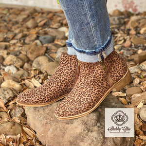 Small Leopard Neal Booties Shabby Chic Boutique and Tanning Salon