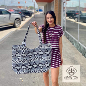 Snakeskin Tote Shabby Chic Boutique and Tanning Salon
