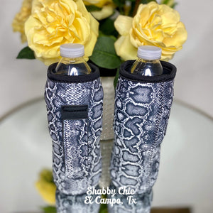 Snakeskin Water Bottle Koozie Shabby Chic Boutique and Tanning Salon