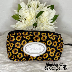 Sunflower Baby Wipe holder Shabby Chic Boutique and Tanning Salon