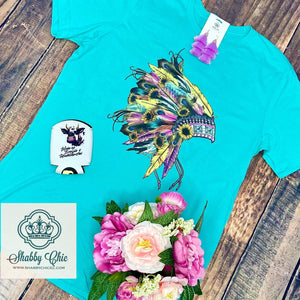 Sunflower Headdress Tee Shabby Chic Boutique and Tanning Salon