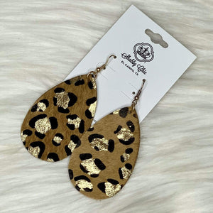 Tan Leopard Earrings Shabby Chic Boutique and Tanning Salon
