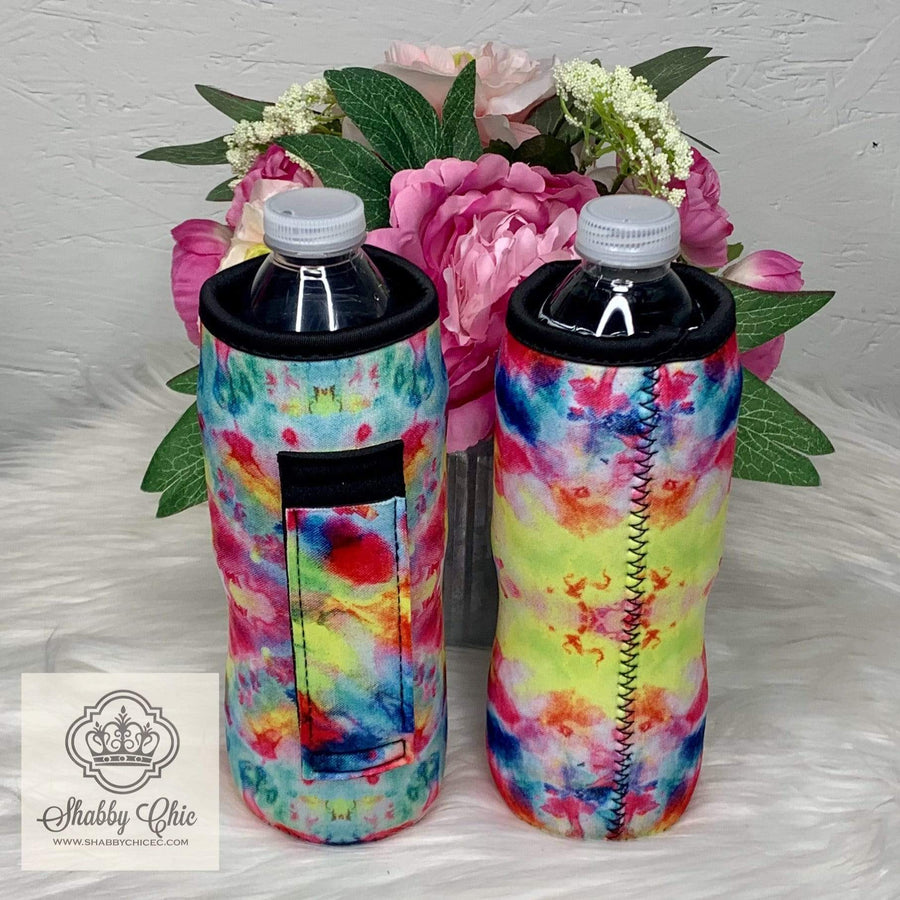 Tie Dye Water Bottle Koozie Shabby Chic Boutique and Tanning Salon