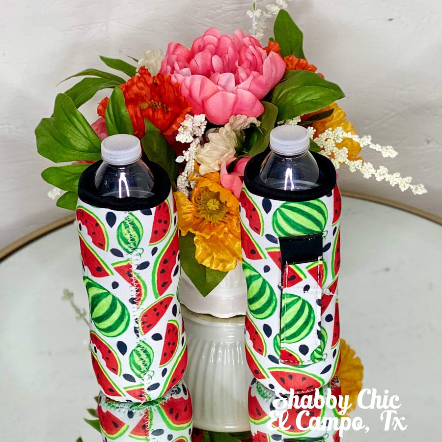 Watermelon Water Bottle Koozie Shabby Chic Boutique and Tanning Salon