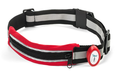 Light-Up Running Belt With Reflective Strip