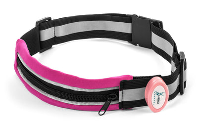 Light-Up Running Belt With Reflective Strip Running Belt Mbio Apparel