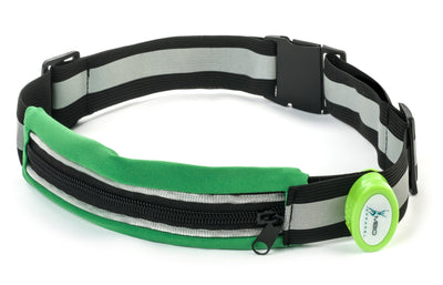 Light-Up Running Belt With Reflective Strip Running Belt Mbio Apparel Green Belt