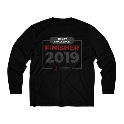 2019 30 Day Challenge Finisher Men's Long Sleeve Tech Shirt Long-sleeve Printify Black XS