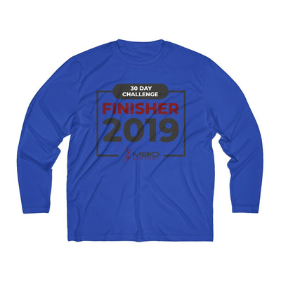 2019 30 Day Challenge Finisher Men's Long Sleeve Tech Shirt Long-sleeve Printify Sport Tek True Royal XS