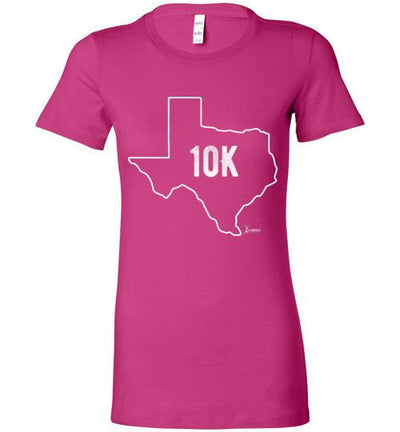 Texas Outline 10K Ladies T-Shirt T-Shirt Mbio Apparel Bella Berry S