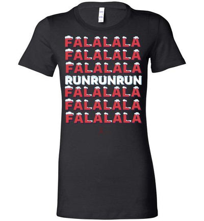 Fa La La Run Ladies T-Shirt T-Shirt Mbio Apparel Bella Black S