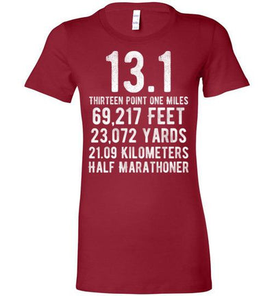 Half Marathoner Ladies T-Shirt