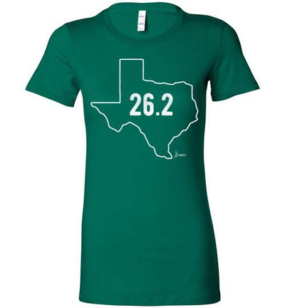Texas Outline Marathon Ladies T-Shirt