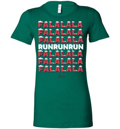 Fa La La Run Ladies T-Shirt T-Shirt Mbio Apparel Bella Kelly S