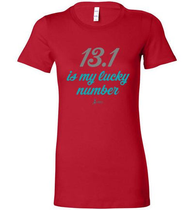 13.1 Is My Lucky Number Ladies T-Shirt T-Shirt Mbio Apparel Bella Red S