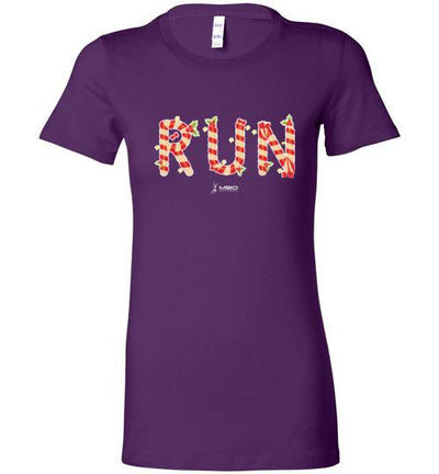 Festive Run Ladies T-Shirt T-Shirt Mbio Apparel Bella Team Purple S