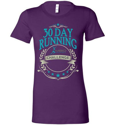 Ladies 30 Day Running Challenge T-Shirt T-Shirt Mbio Apparel Bella Team Purple S