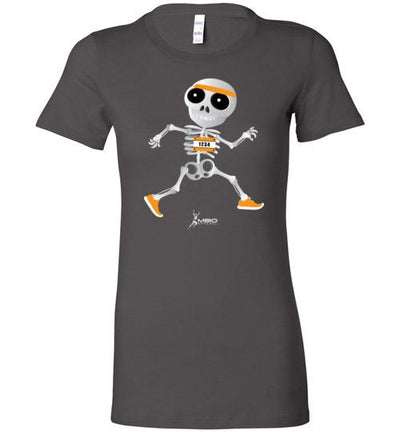 Skeleton Runner Halloween Ladies T-Shirt