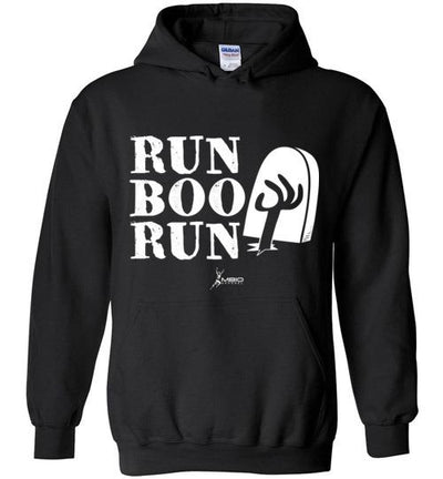 Run Boo Run Halloween Hoodie T-Shirt Mbio Apparel Gildan Black S