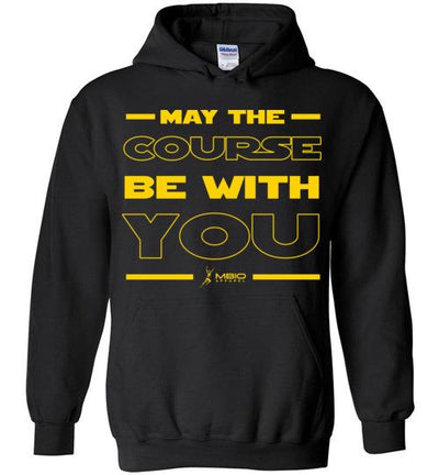 May The Course Be With You Hoodie T-Shirt Mbio Apparel Black S