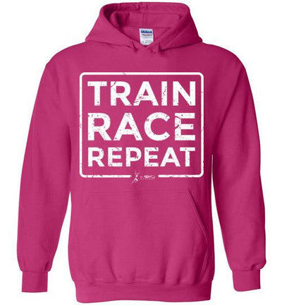 Train Race Repeat Hoodie T-Shirt Mbio Apparel Gildan Heliconia S
