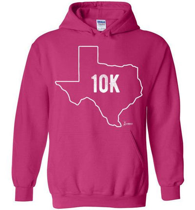 Texas Outline 10K Hoodie T-Shirt Mbio Apparel Gildan Heliconia S